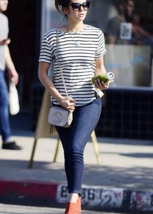 Nina Dobrev in Tight Jeans Out in LA