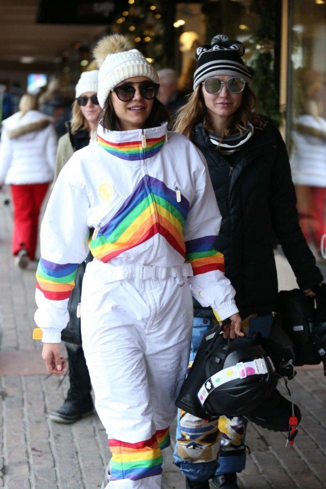 Nina Dobrev out in Aspen