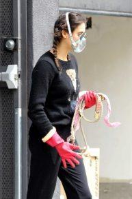 Nina Dobrev - Outside a vet's office in Los Angeles