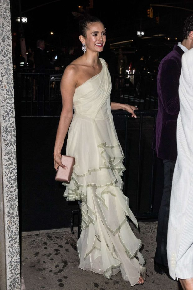 Nina Dobrev: Outside Gucci After Party for MET Gala 2019 -01