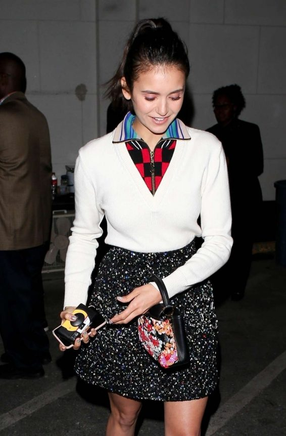 Nina Dobrev - Outside Opening of Louis Vuitton x Cocktail Party in LA