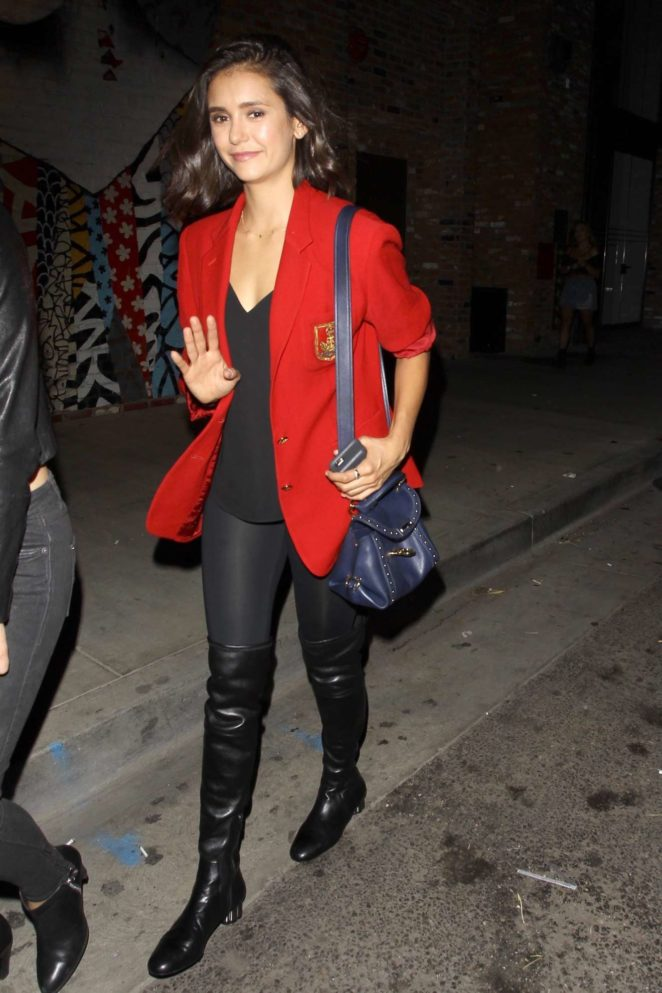 Nina Dobrev - Seen Leaving The Highlight Room in LA