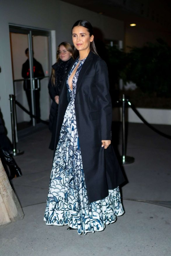 Nina Dobrev 2019 : Nina Dobrev – Seen outside 2019 Guggenheim International Gala in NY-02