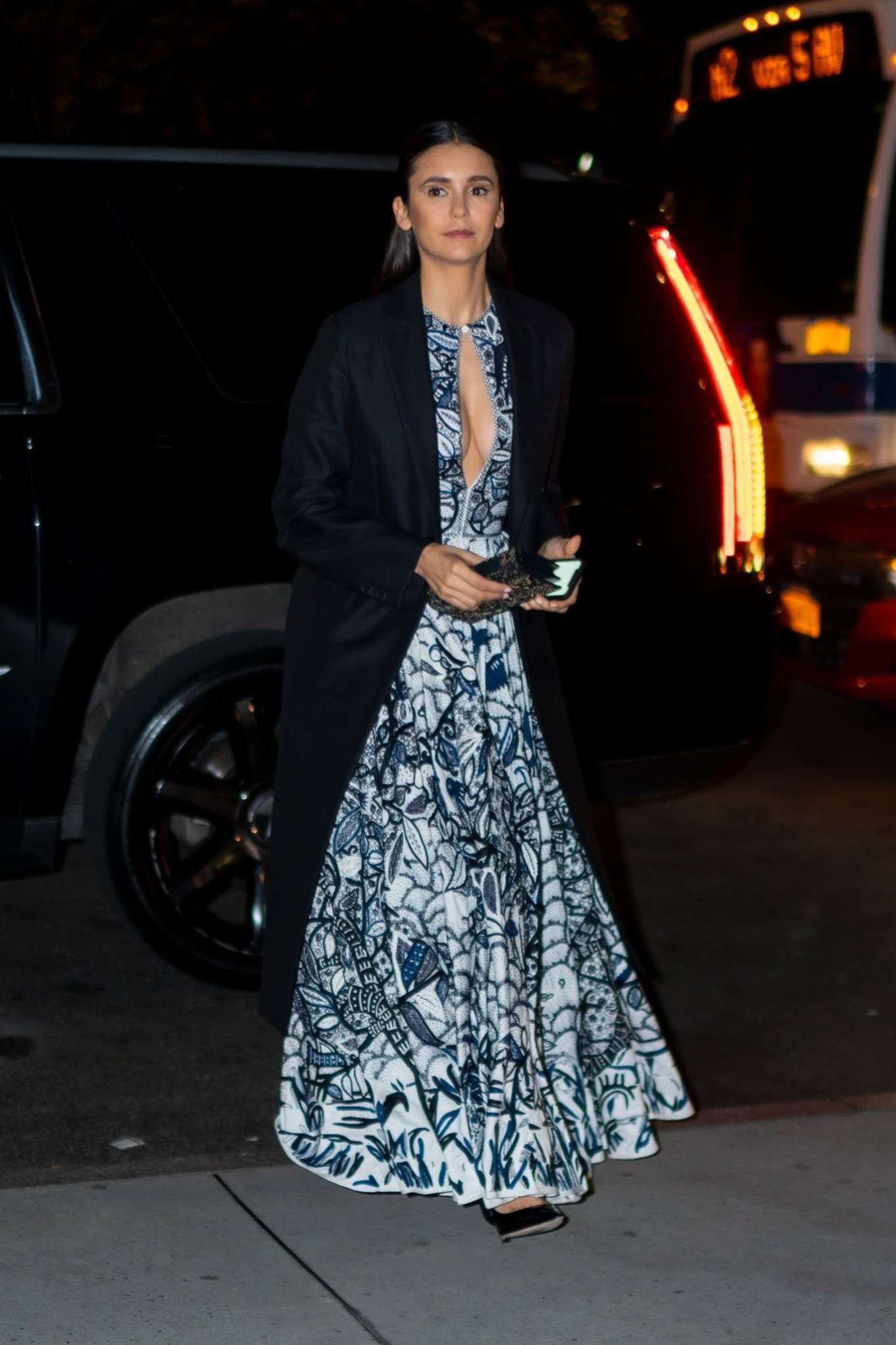 Nina Dobrev - Seen outside 2019 Guggenheim International Gala in NY
