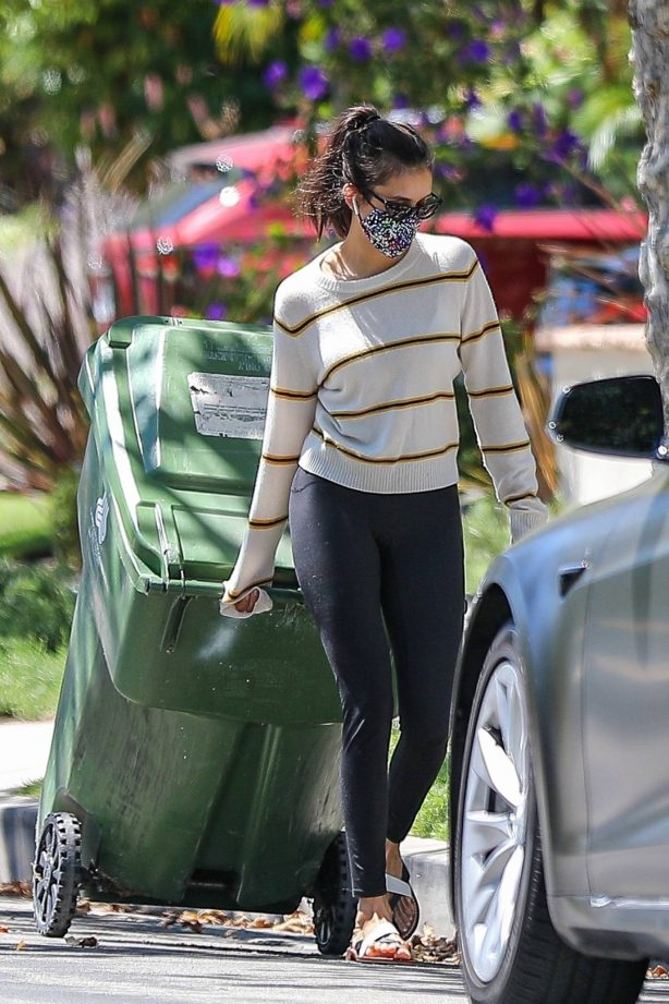 Nina Dobrev - Spotted outside her home in West Hollywood