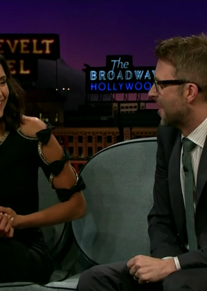 Nina Dobrev - The Late Late Show with James Corden in LA