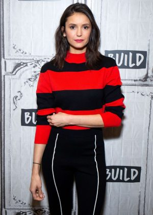 Nina Dobrev - Visits AOL Build Studio in NYC