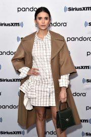 Nina Dobrev - Visits SiriusXM Studios in New York City