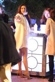 Nina Dobrev with her parents at Seth MacFarlane's holiday party in LA