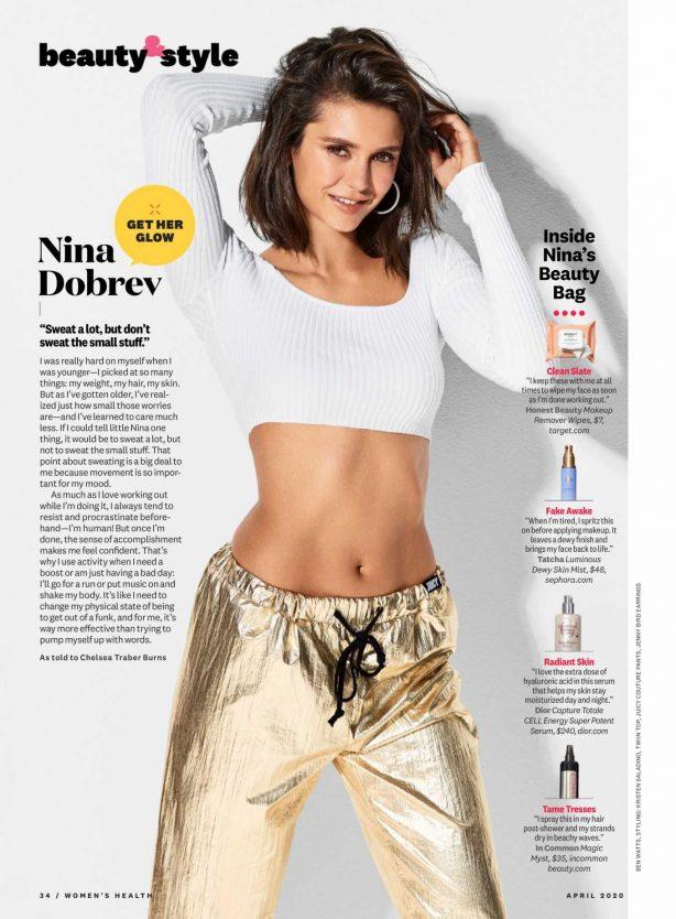 Nina Dobrev - Women's Health Magazine (US - April 2020)