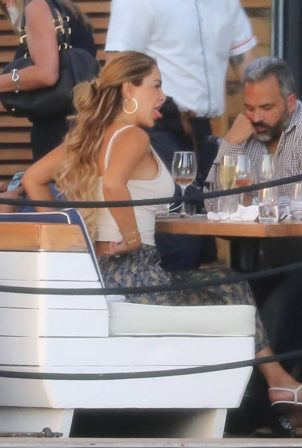 Ninel Conde - Lunch candids with friends in Miami