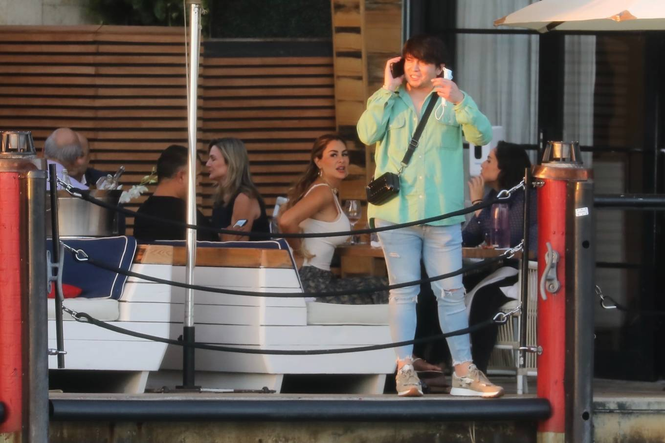 Ninel Conde 2021 : Ninel Conde – Lunch candids with friends in Miami-03