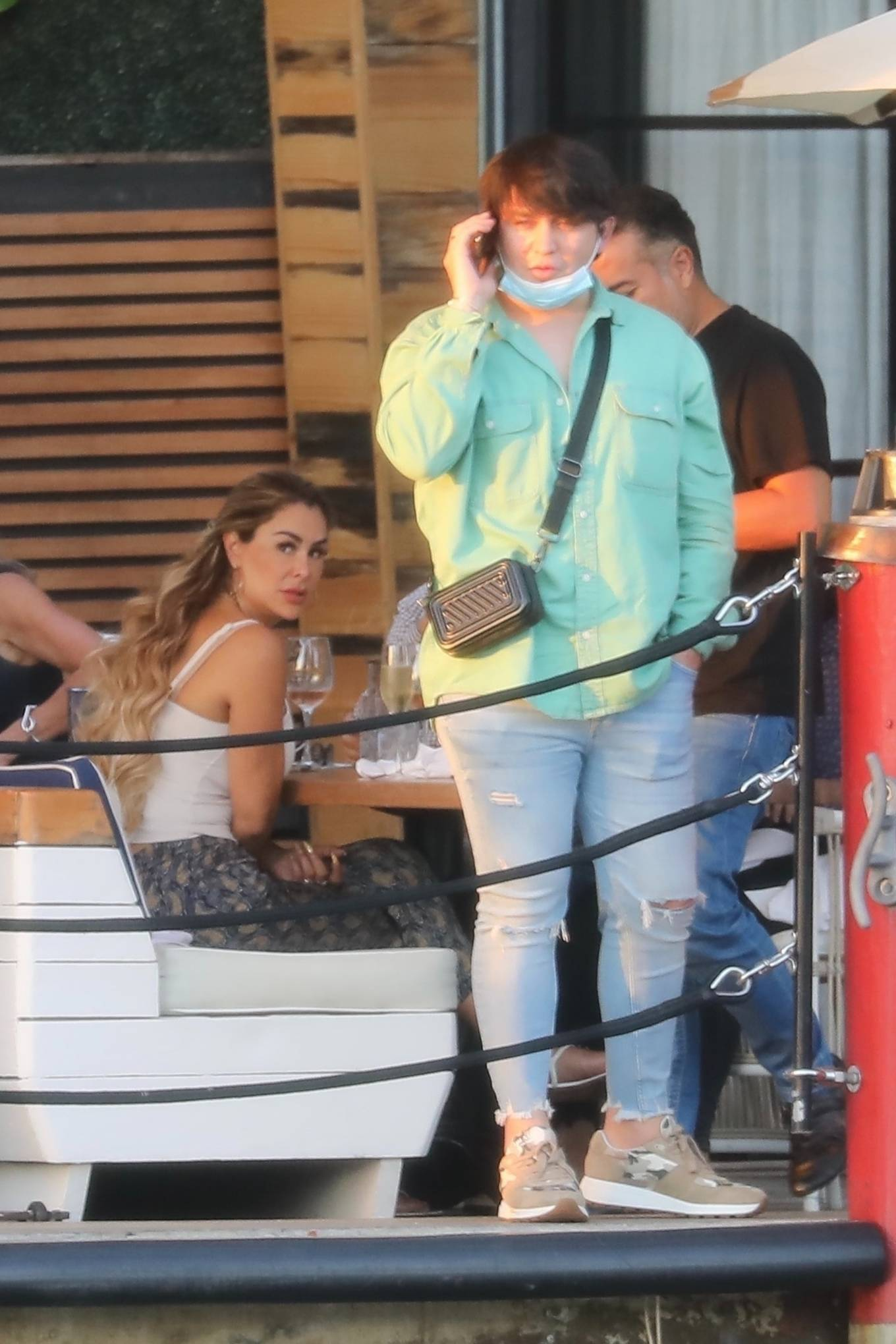 Ninel Conde 2021 : Ninel Conde – Lunch candids with friends in Miami-05