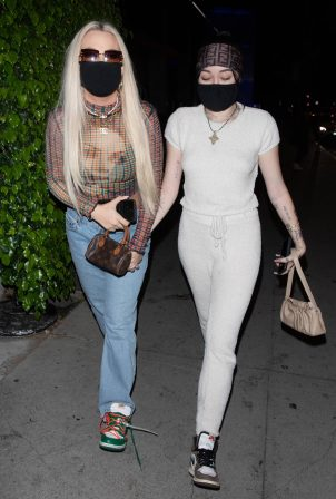 Noah Cyrus and Tana Mongeau - Seen arriving for dinner at BOA in West Hollywood
