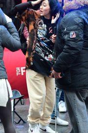 Noah Cyrus - Arrives at Global Radio in London