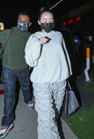 Noah Cyrus - Seen after dinner at BOA Steakhouse in West Hollywood
