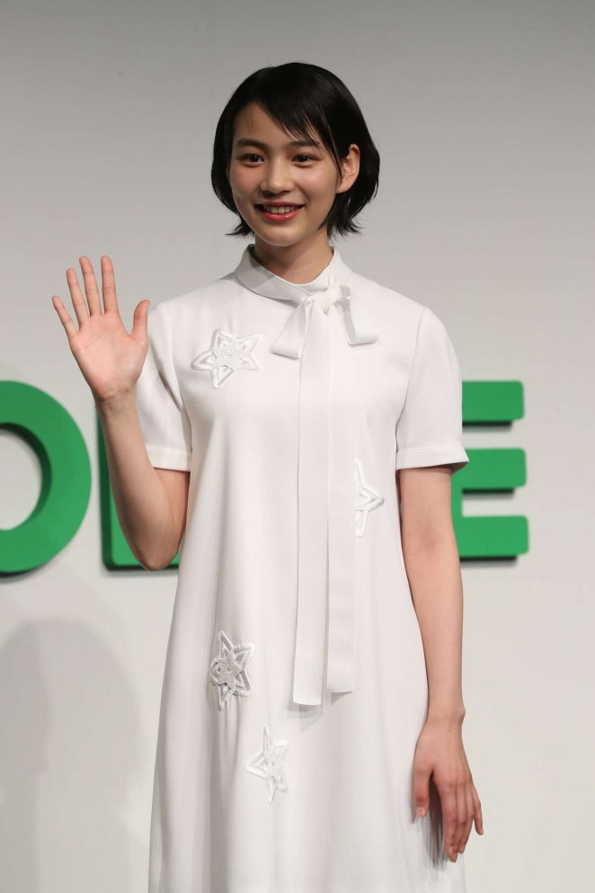 Non at Japan's Line Mobile new service presentation in Tokyo