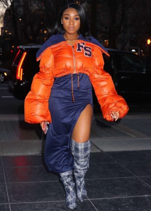Normani Kordei - Arriving to the Sony building in NYC