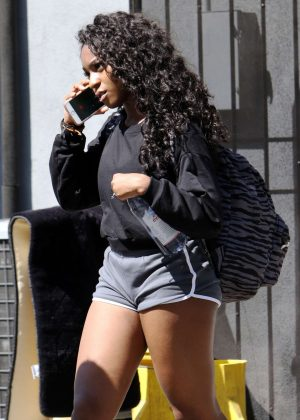 Normani Kordei in Shorts at DWTS studio in Los Angeles