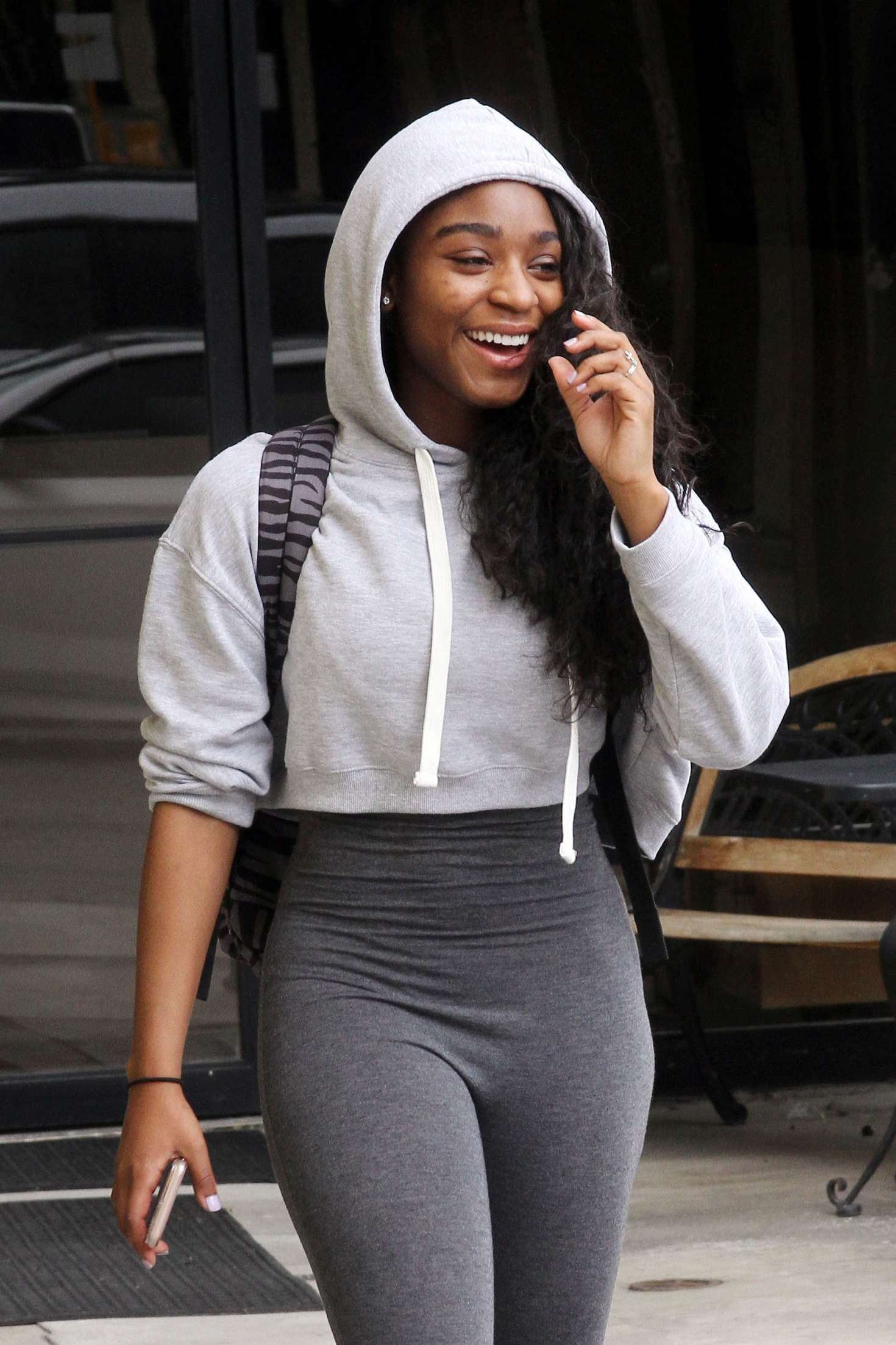 Normani Kordei in Tights out in Los Angeles