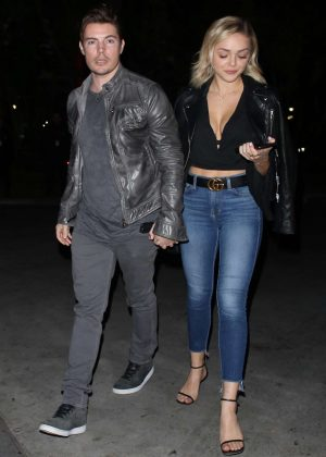 Oana Gregory and Josh Henderson - Heading to the Elton John Concert at the Staples Center in LA