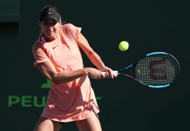 Oceane Dodin - 2018 Miami Open in Key Biscayne