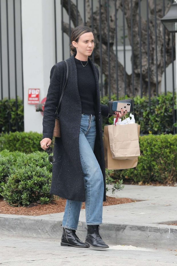 Odette Annable - Leaves Gracias Madre in West Hollywood