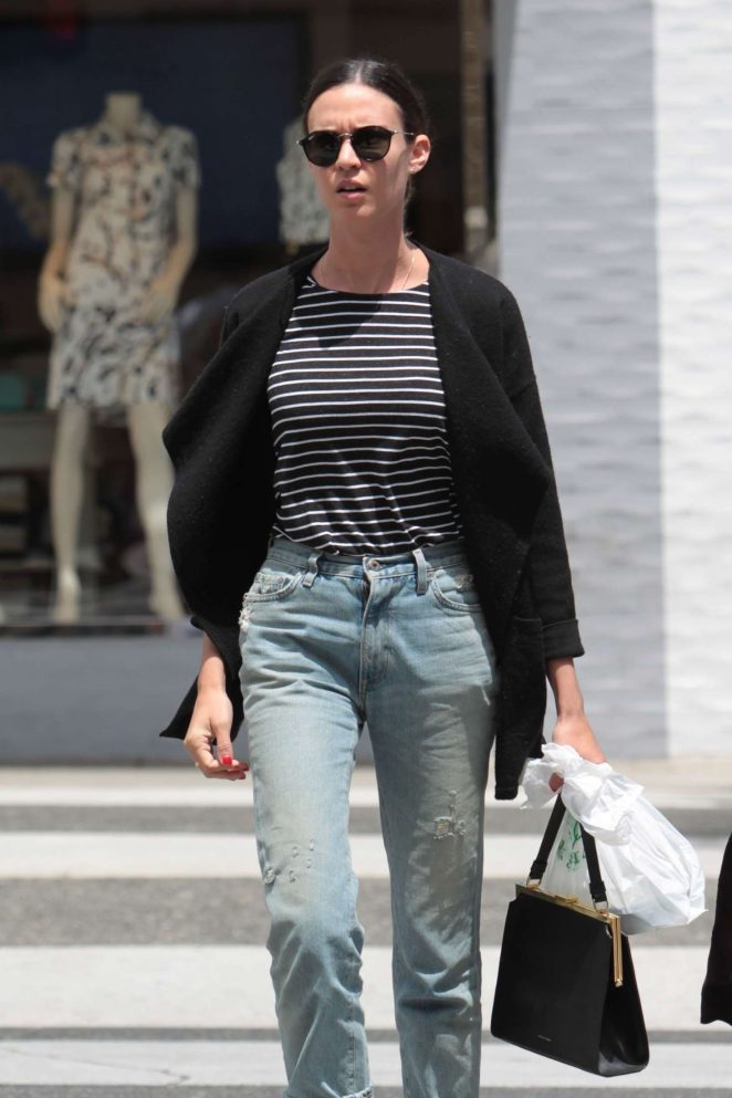 Odette Annable out for lunches at La Scala in Beverly Hills
