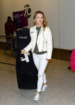 Ola Jordan at Heathrow Airport in London