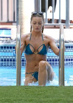 Ola Jordan in Blue Bikini 2016 -02