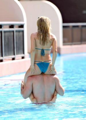 Ola Jordan in Blue Bikini 2016 -08
