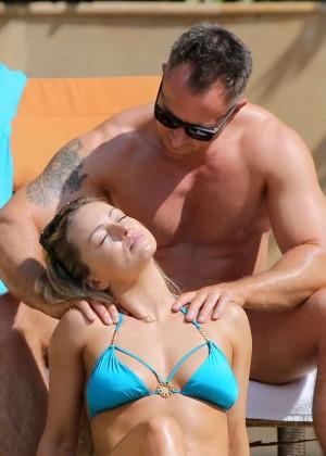 Ola Jordan in Blue Bikini 2016 -15