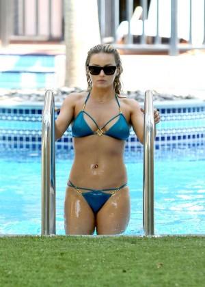 Ola Jordan in Blue Bikini 2016 -19
