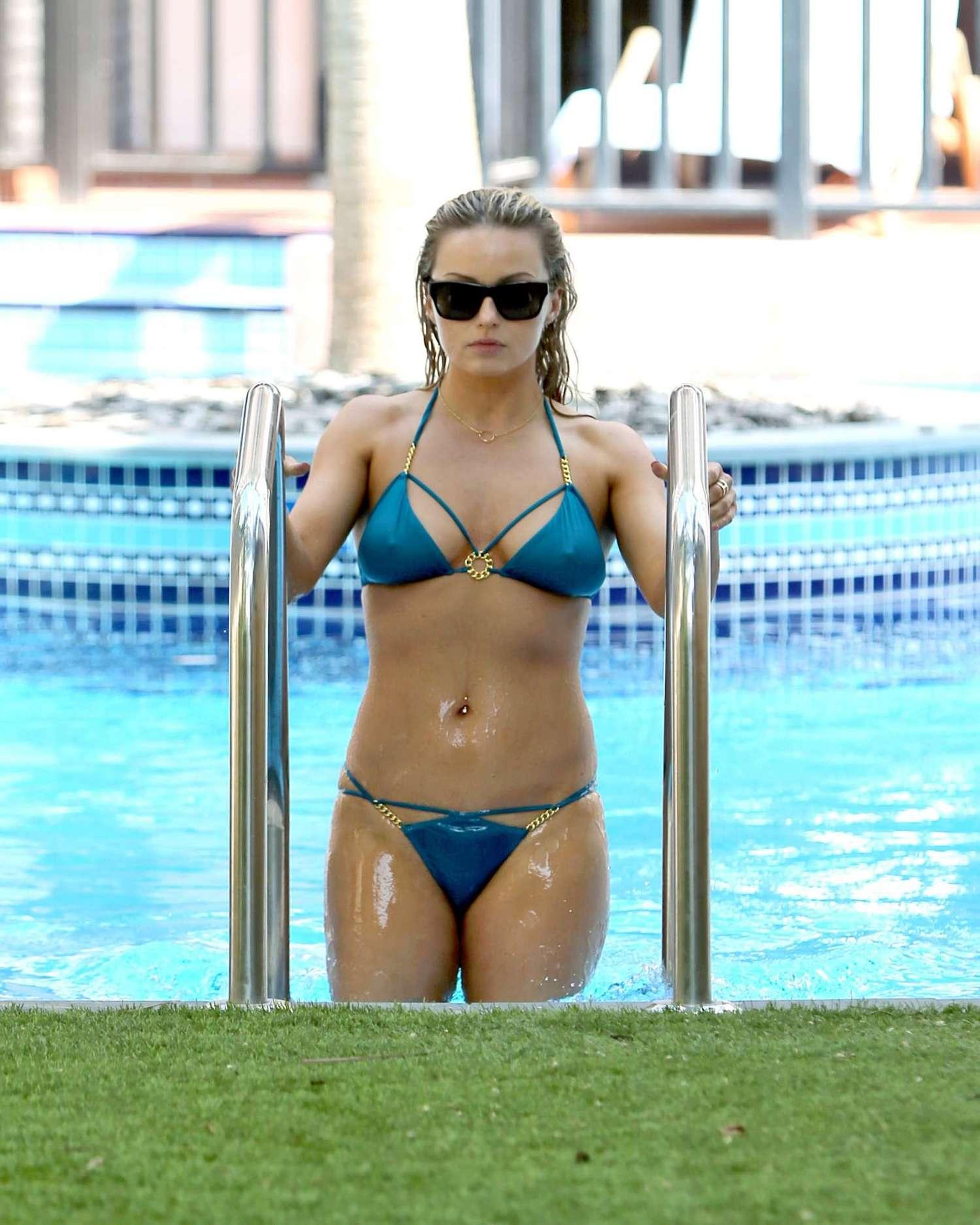 Ola Jordan 2016 : Ola Jordan in Blue Bikini 2016 -19