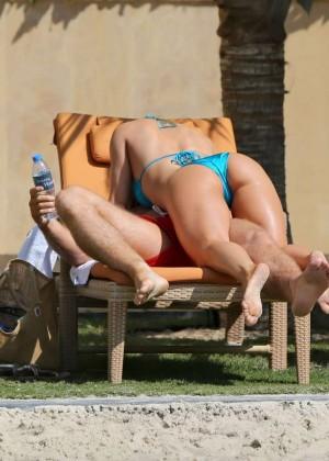 Ola Jordan in Blue Bikini 2016 -24