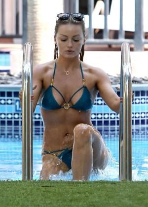 Ola Jordan in Blue Bikini 2016 -28