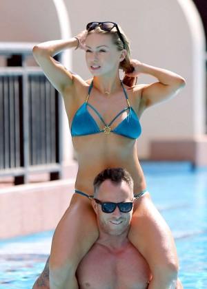 Ola Jordan in Blue Bikini 2016 -48