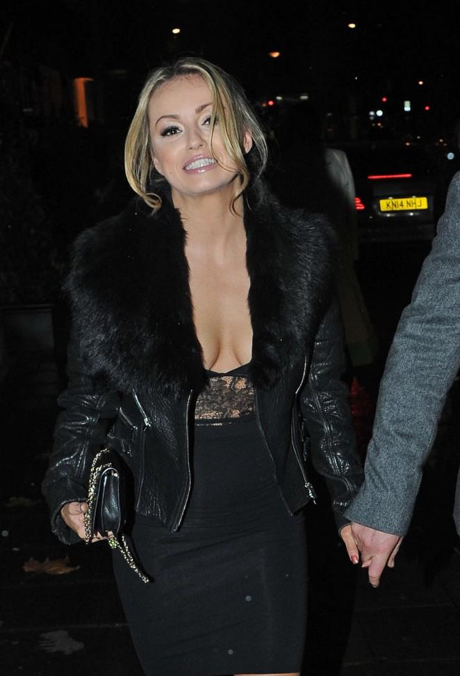 Ola Jordan - Leaving Annabell's Nightclub in London