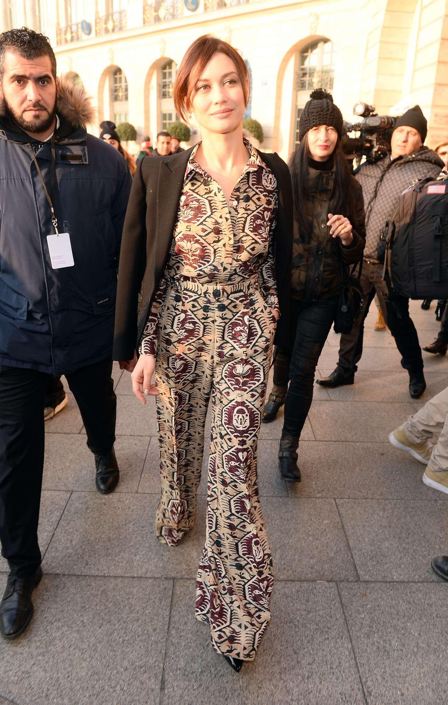 Olga Kurylenko - Arrives at Schiapparelli Fashion Show 2017 in Paris