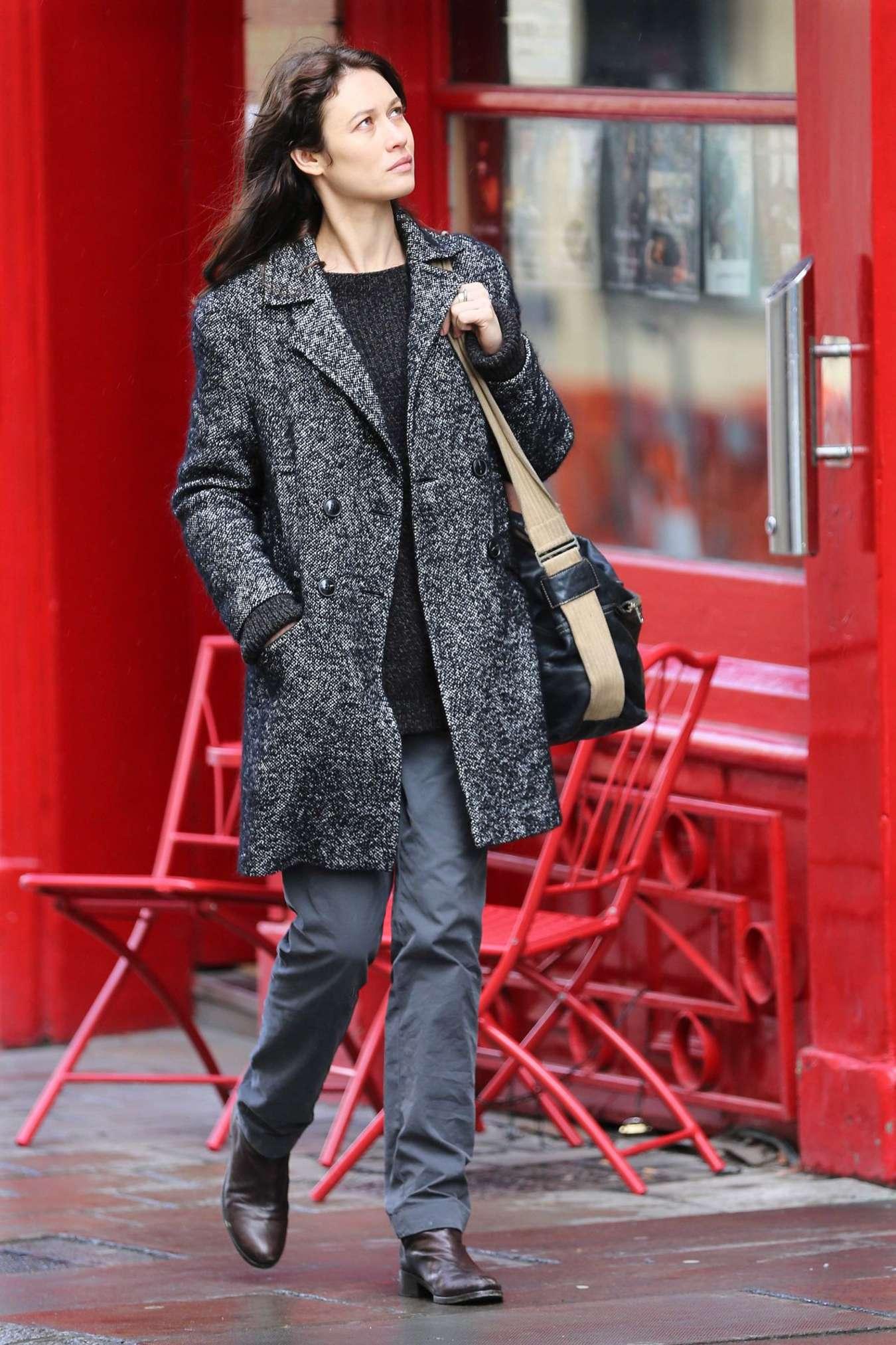 Olga Kurylenko - Filming 'The Correspondence' Set in Edinburgh