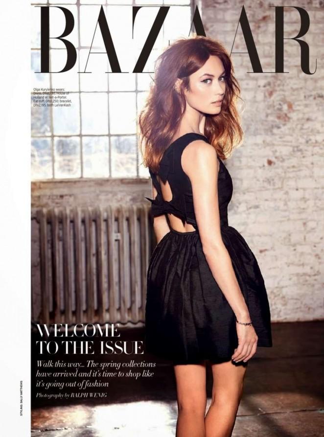 Olga Kurylenko - Harper's Bazaar Arabia Magazine (Febuary 2015)
