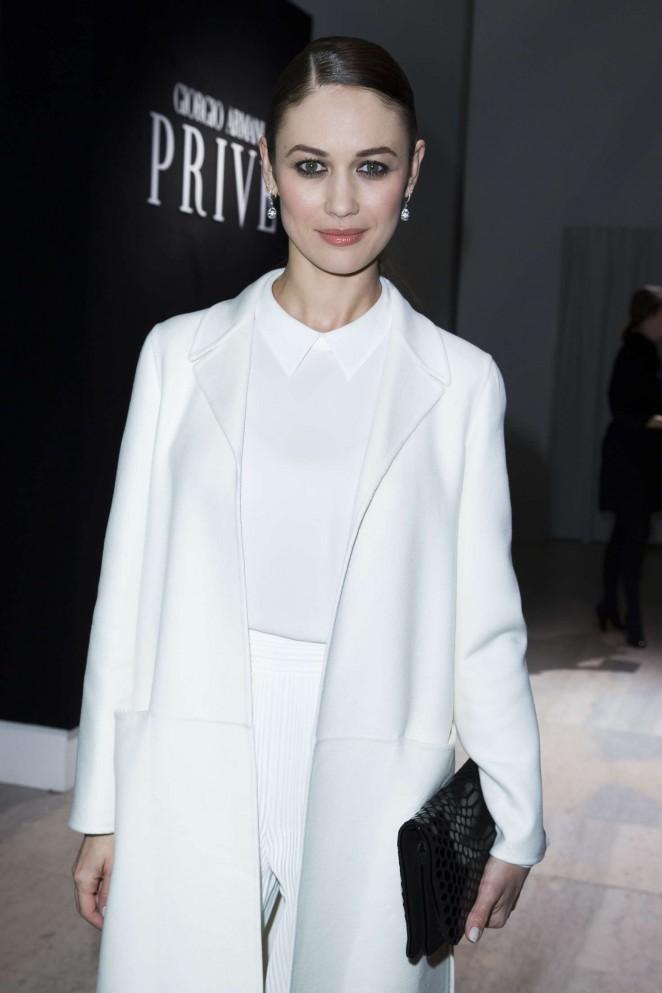 Olga Kurylenko - Haute Couture Fashion Show Giorgio Armani Prive SS 2016 in Paris