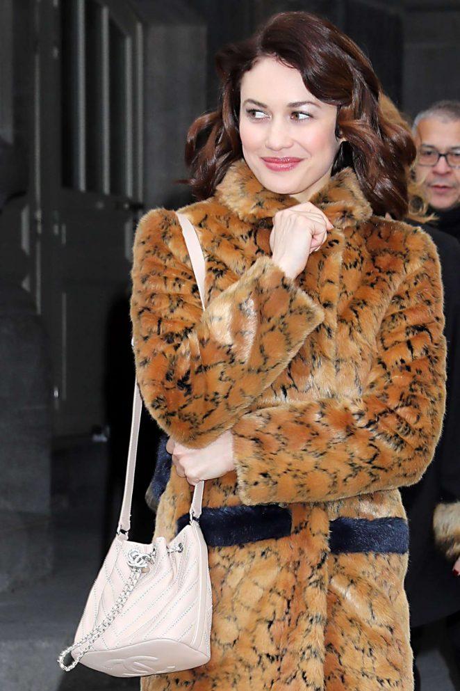 Olga Kurylenko – Leaving Chanel FW 2017 Show in Paris