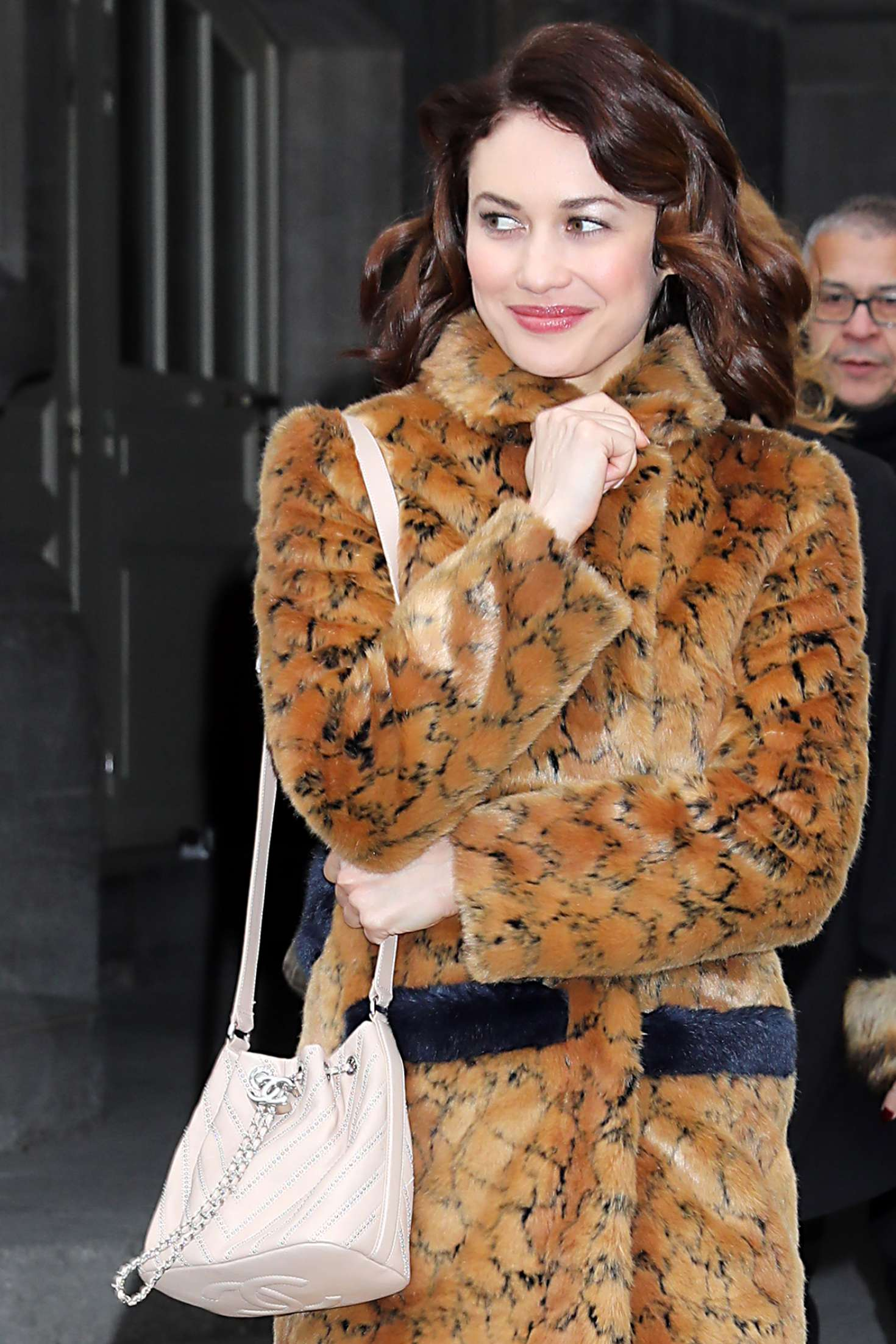 Olga Kurylenko - Leaving Chanel FW 2017 Show in Paris