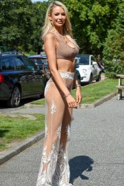 Olivia Attwood filming for series 25 in Essex
