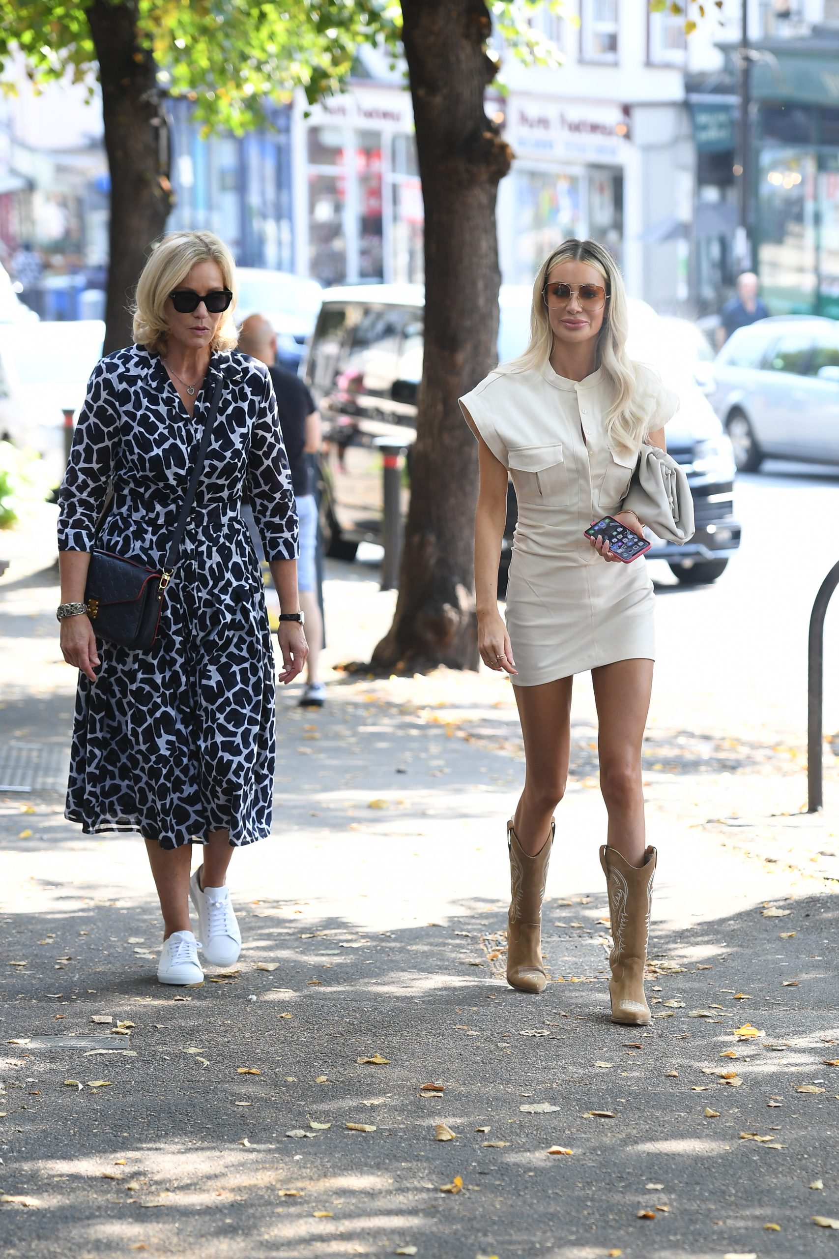 Olivia Attwood 2020 : Olivia Attwood – Leggy in white dress while out in London-10