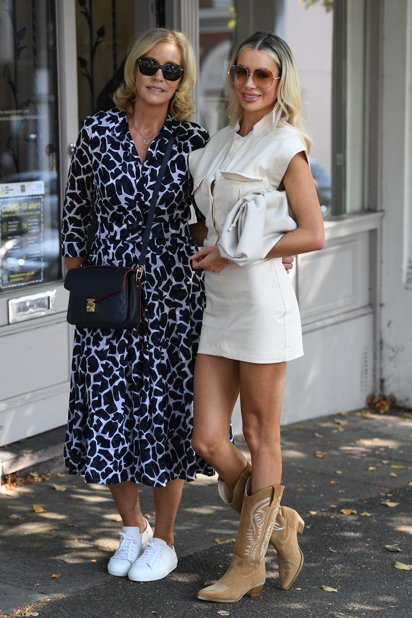 Olivia Attwood 2020 : Olivia Attwood – Leggy in white dress while out in London-11