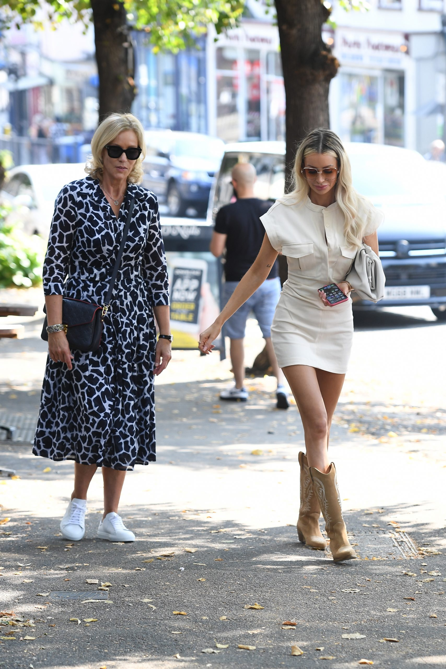 Olivia Attwood 2020 : Olivia Attwood – Leggy in white dress while out in London-12