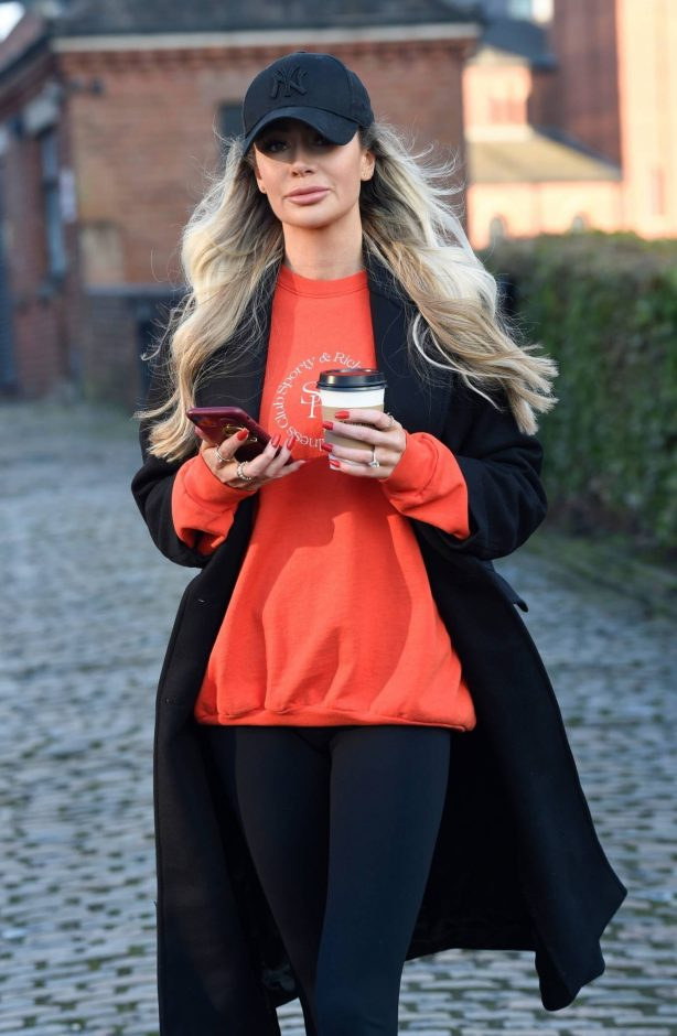 Olivia Attwood - Out in Castlefield in Manchester