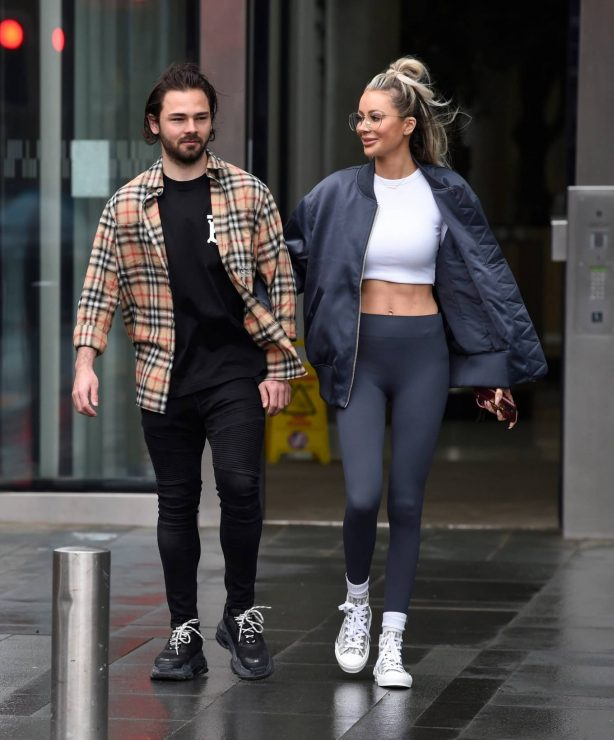 Olivia Attwood - With Bradley Dack on 'Olivia Meets Her Match' set in Manchester